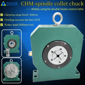 Pneumatic spindle collet chuck CHM-95 for double side processing double head cnc lathe air chuck for automatic equipment