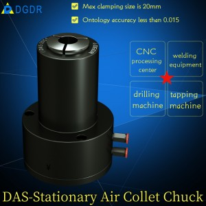 small model manipulator automatic pneumatic collet chuck DAS – 20SS for welding pneumatic chuck air pressure chuck