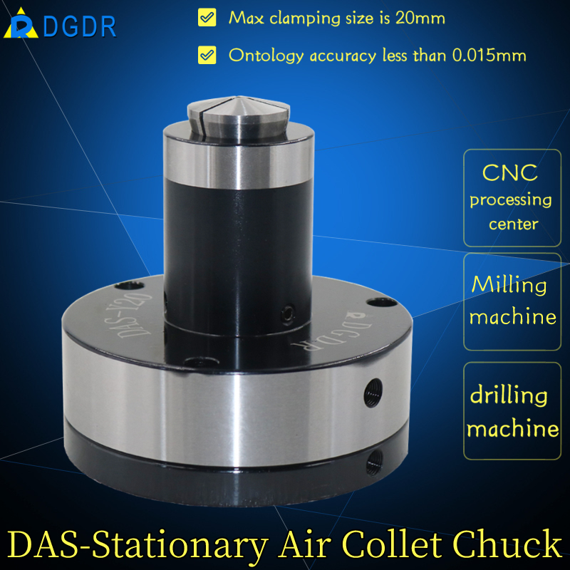 CNC processing center air collet chuck DAS-Y20 high precision stationary chuck with back-pulled pneumatic collet chuck for tapping machine drilling machine Featured Image