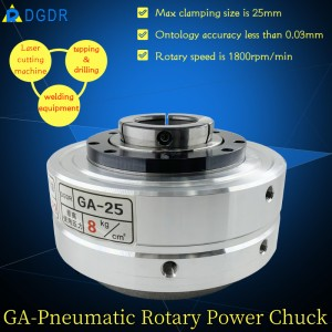 Taiwan tapping machine chuck GA-25 laser cutting welding pneumatic rotary chuck