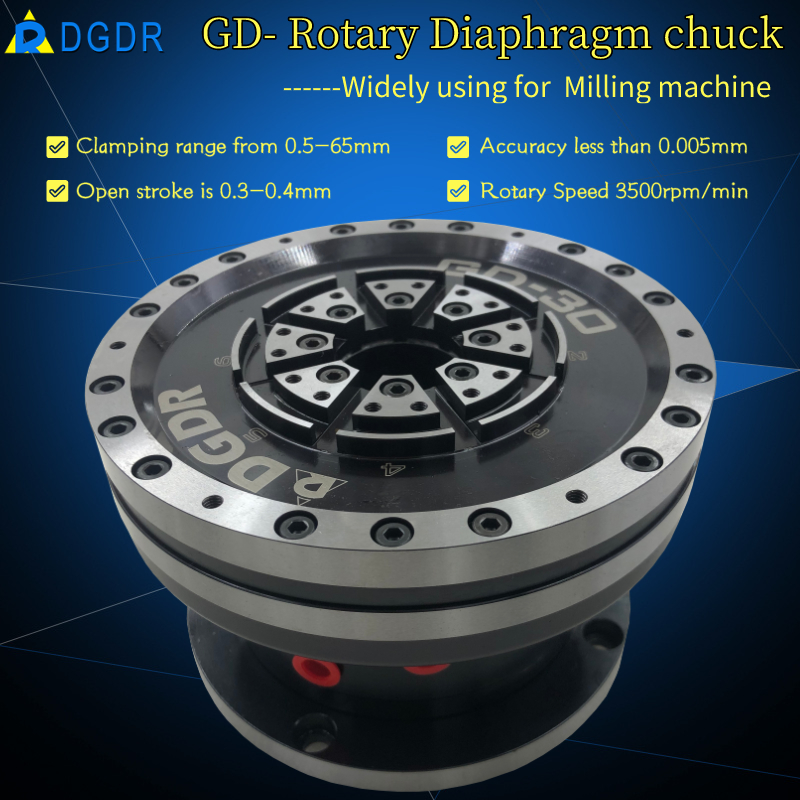 GD-30 high precision air diaphragm chuck for grinding machine pneumatic chuck for precision equipment Featured Image