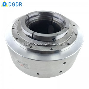 GH-120 chase hole hollow pneumatic rotary chuck vice jaws oil pressure chuck seat for tapping machine