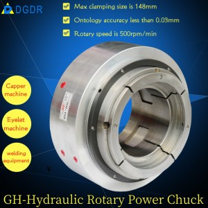 high speed pneumatic chuck GH – 150 CNC automatic punching machine oil pressure chuck long hole hollow hydraulic chuck