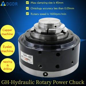 GH-40 Vertical fixing standard through-hole pneumatic cnc lathe Rotary power chuck for capper machine tapping machine drilling machine oil chuck