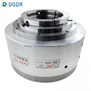 GH90/GH120 through hole hollow pneumatic rotary chuck laser pipe cutting machine sealing oil pressure chuck seat