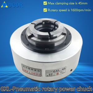 GXL-40 large stroke 2.5mm pneumatic chuck air pressure front-mounted robot chuck