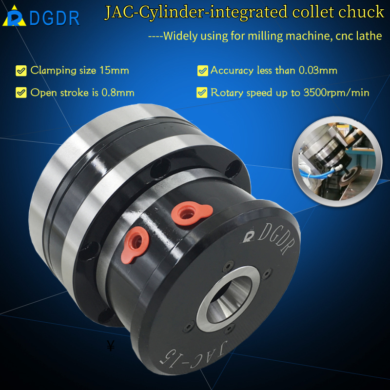 small air chuck mini for milling machine DGDR JAC-15 air collet chuck Featured Image