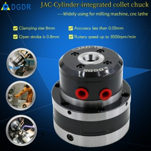 mini cylinder-Integrated air collet chuck JAC-T8 mini chuck