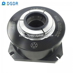 JAS-40 tapping machine vice jaw chuck with through-hole stationary chuck